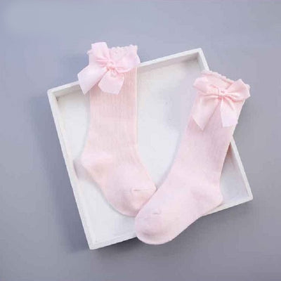 0-6Y Bowknot Baby Tights Spring Autumn Summer Cotton Tights Baby Girl Stockings Pantyhorse Knitted Infant Knitted Collant Tights - ibootskids