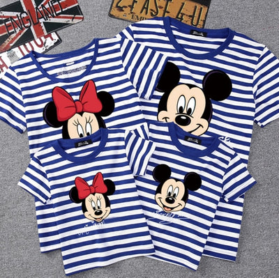 Summer Family Matching Outfits Mommy Daddy Kid Son Baby T-Shirt Shirts Family Clothes Child Mickey Minnie Tops Photography - ibootskids