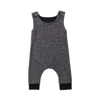Summer New Baby Boys Cute Denim Buttons Romper Infants Toddler One Piece Jumpsuit Outfits Clothes - ibootskids