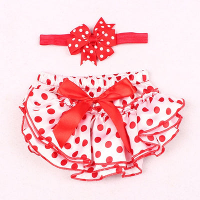 Baby Girl Ruffle Bloomer Princess Panties Cover Nappy Shorts Briefs Summer Bottom Pants Nappy Covers PP Skirt with Headband Set - ibootskids