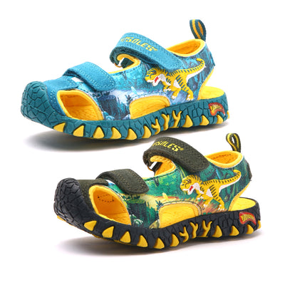 2020 Boys Sandals 3D Dinosaur Kids Summer Shoes Anti-Slip Toddler Boy Beach Sandals Anti-impact Toe Casual Children's Shoes - ibootskids