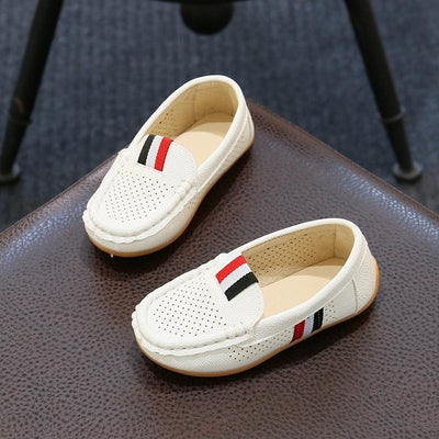 Children Shoes For Boys Loafers Sneakers Baby Soft Kids Shoes Pu Leather Casual Toddler Girls Flats Slip-on Moccasin White Shoes - ibootskids