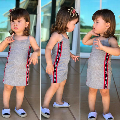 Fashion Summer Kids Baby Girls Sleeveless Dresses Cotton Party Toddler Kids Children Dress Infant Beach Strap Casual Clothes - ibootskids