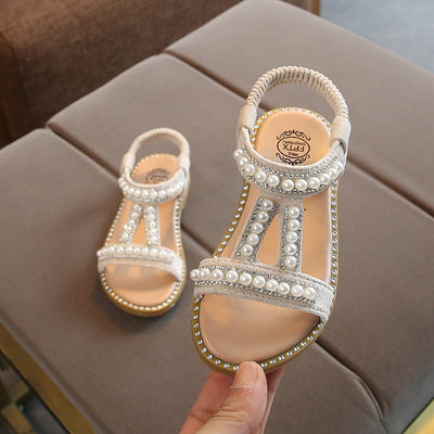 Summer New Baby Girls Shoes Toddler Infant Kids Pearl Crystal Single Princess Roman Shoes Sandals For Children Girl - ibootskids