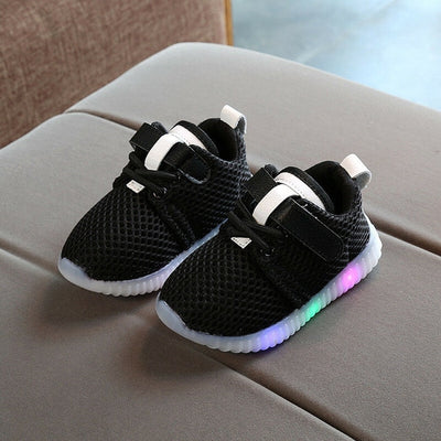 LED Classic Sports Sneakers Newborn Baby Boys Girls First Walkers Shoes Infant Toddler Soft Sole Anti-slip Baby Shoes - ibootskids