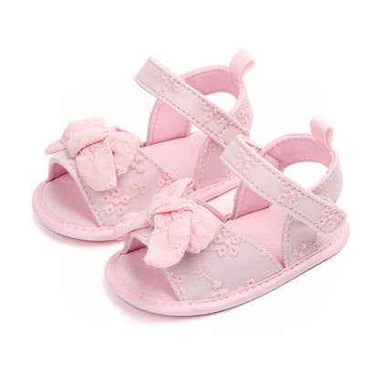Leather Baby Sandals Summer Shoes Infant Toddler Sandals For Girls Soft Sole Non-Slip Bowknot Newborn Sandal - ibootskids
