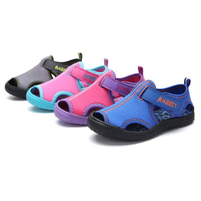 Chidlren beach sandals boys soft round bomb cloth shoes girls heel pocket and support design foot protect sandals - ibootskids