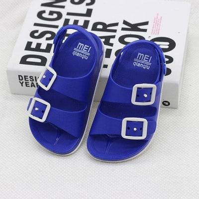 Boys Sandals Kids Shoes Summer Children Beach Shoes Male Sports Anti-slip Casual Toddler Baby PU Leather Rubber Sandal Flats - ibootskids