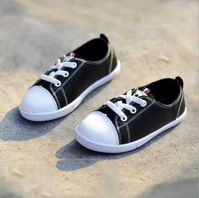 Children genuine leather shoes boy&girl fashion softy sole leather shoes lace-up casual shoes - ibootskids