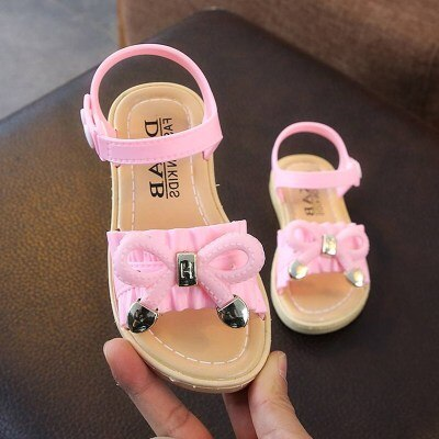 Summer Kids Sandals For Girls Princess Shoes Children Beach Little Girls Open Toe Flat Pearl Casual Sandals Fashion Party - ibootskids