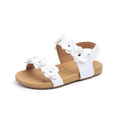 Toddler Little Baby Girl Summer Children Flower Flat Sandals Dress Shoes For Kids Girls Beach Sandals 1 2 3 4 5 Years 2018 - ibootskids