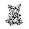 Infant Baby Girl 3M-18M Summer Leopard Ruffle Romper Jumpsuit One Piece Outfit - ibootskids