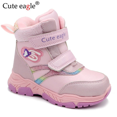 Cute Eagle Winter Shoes for Girls Toddler - ibootskids