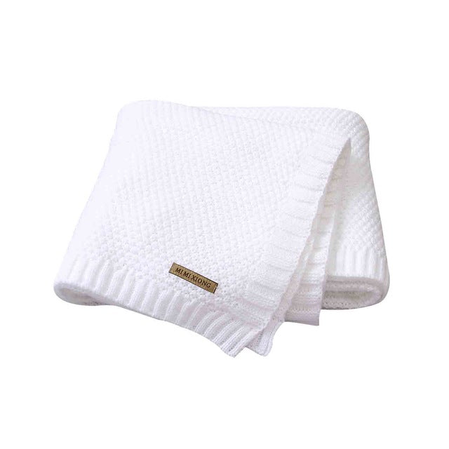Baby Blanket Knitted Newborn Swaddle Wrap Blanket - ibootskids