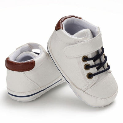 Newborn Baby Shoes PU Leather Soft Sole Crib Shoes - ibootskids