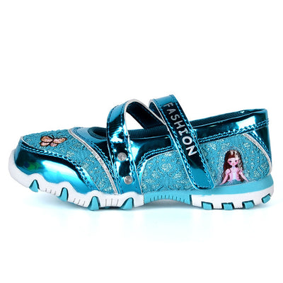 Children Casual Shoes Brand Girls Hook Shinning Sport Shoes Fashion Sandals Baby Hot Cartoon Sneakers Soft Princess Shoes - ibootskids