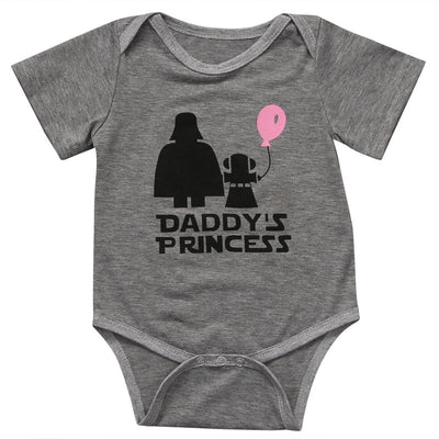 Cute Daddys princess clothing Newborn infant Baby Girls Bodysuit Jumpsuit Clothes Sunsuit Outfits - ibootskids