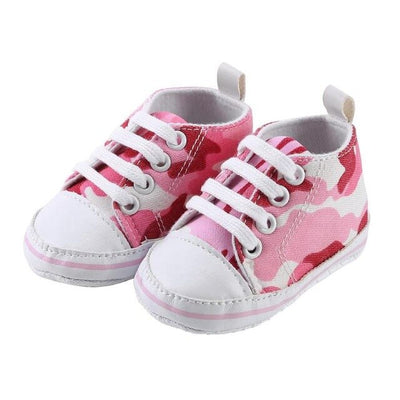 New Canvas Baby Sneaker Sport Shoes For Kids Camo Print Baby Shoes Soft Soles Canvas Anti-Slip First Walkers Sports Sneakers - ibootskids