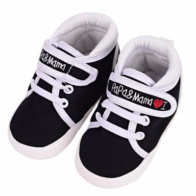 Newborn Baby Shoes Unisex First Walkers 0-18M Toddler Newborn Shoes Baby Infant Kids Boy Girl Soft Sole Canvas Sneaker - ibootskids