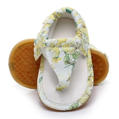 Summer Baby Shoes Girl Boy flip flops Pu Leather Lace Up Baby Peep Toe Flat Brand Toddler Beach First Walkers Baby Shoes - ibootskids