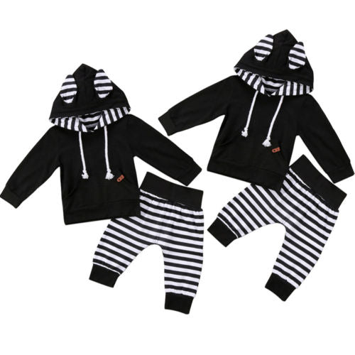 Newborn Baby Girls Ear Hooded Tops - ibootskids