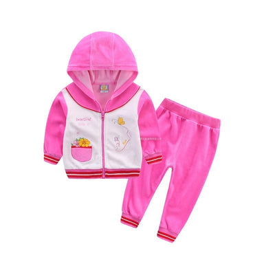 Children Outfits infant clothing baby clothes kid suit child gament boys set habiliment girl apparel velvet costume outfits - ibootskids