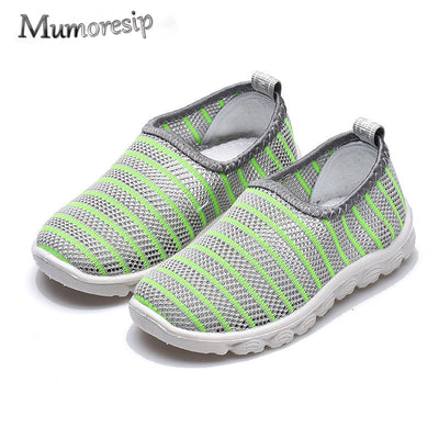 Mumoresip Baby Girl Boy Summer Shoes Air Mesh Soft Breathable Sandals Net Cloth Shoes Beach Shoes Children Boys Girls Cut-outs - ibootskids