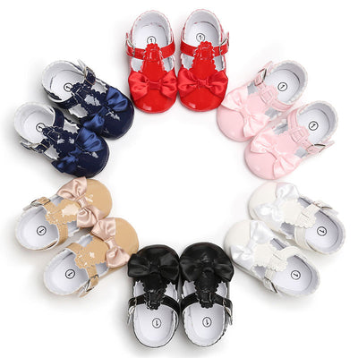 Adorable Cute Lovely Toddler Girl Shoes Baby Bowknot Soft Sole Shoes Party Princess Antiskid Kids Fille Joli Leather Sneakers - ibootskids