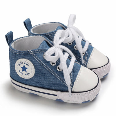 New Canvas Baby Sports Sneakers Shoes Newborn Baby Boys Girls First Walkers Shoes Infant Toddler Soft Sole Anti-slip Baby Shoes - ibootskids