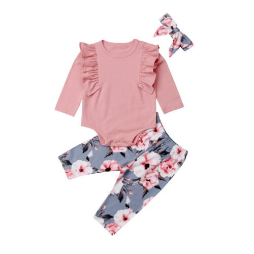 Newborn Toddler Kids Baby Girl Long Sleeve - ibootskids
