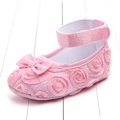Baby Shoes Rome Flower Shoes For Baby Girls Source Wholesale Pure Color Rose Baby Toddler Shoe Princess Firstwalker - ibootskids