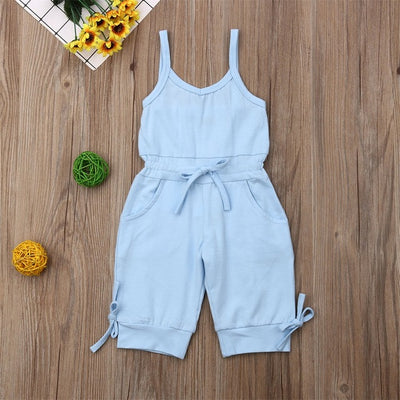 Summer Kids Toddler Baby Girl Bow Vest Romper Jumpsuit Clothes Outfits 1-6Y - ibootskids