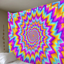 Load image into Gallery viewer, Psychedelic Illusion Tapestry
