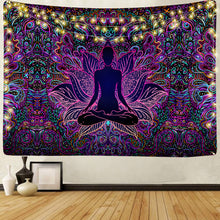 Load image into Gallery viewer, Psychedelic Lotus Tapestry