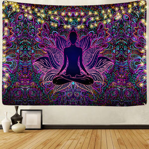 Psychedelic Lotus Tapestry