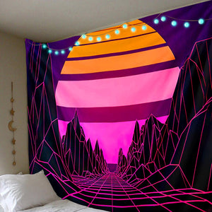 Retro Mountains Tapestry