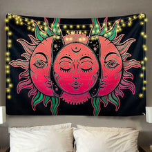 Load image into Gallery viewer, Vibrant Sun & Moon Tapestry