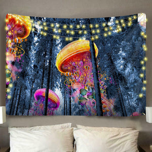 Jellyfish Forest Tapestry