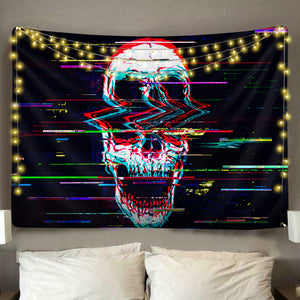 Digital Skull Tapestry
