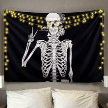 Load image into Gallery viewer, Peace Skeleton Tapestry
