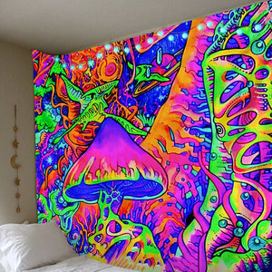 Abstract Mushroom Tapestry tapestry Trippy Tapestry