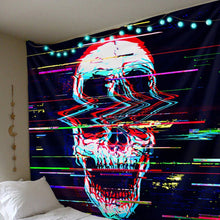 Load image into Gallery viewer, Digital Skull Tapestry tapestry Trippy Tapestry