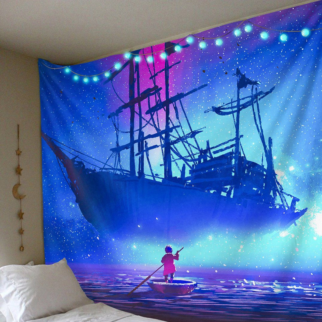 Ghost Ship Tapestry tapestry Trippy Tapestry