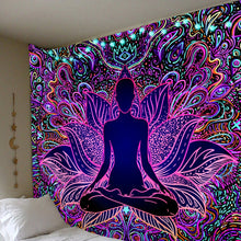 Load image into Gallery viewer, Psychedelic Lotus Tapestry tapestry Trippy Tapestry