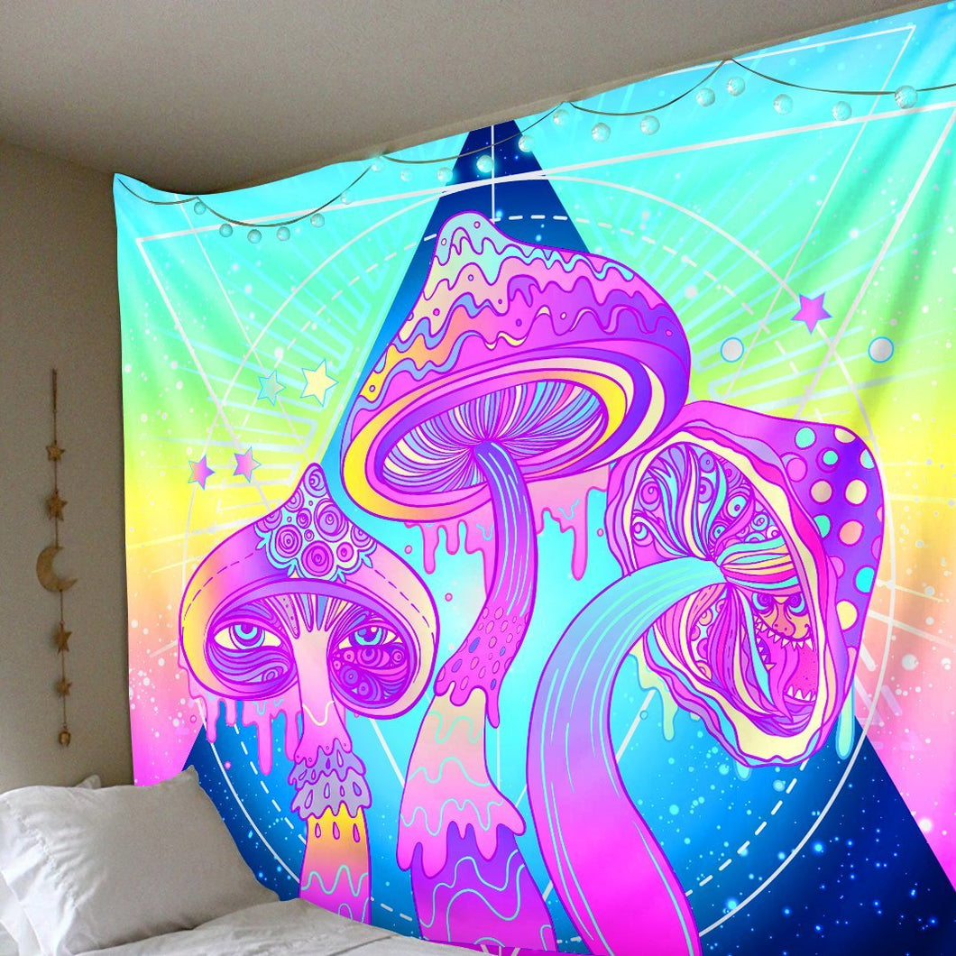 Psychedelic Mushroom Tapestry tapestry Trippy Tapestry