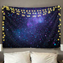 Load image into Gallery viewer, Purple Galaxy Tapestry