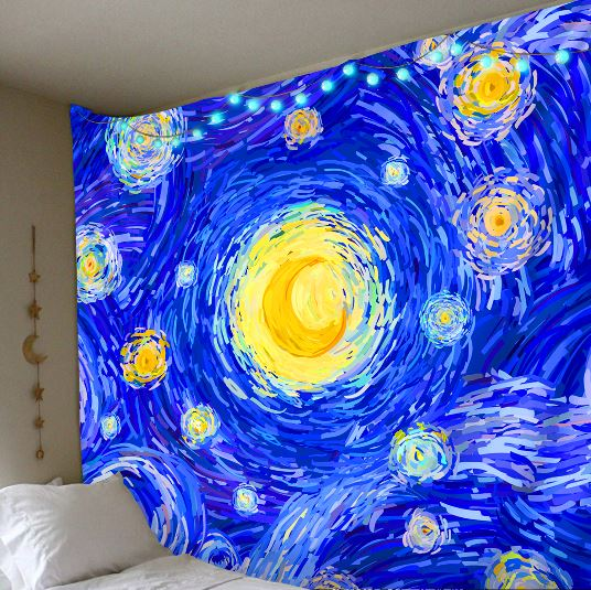Starry Night Tapestry tapestry Trippy Tapestry