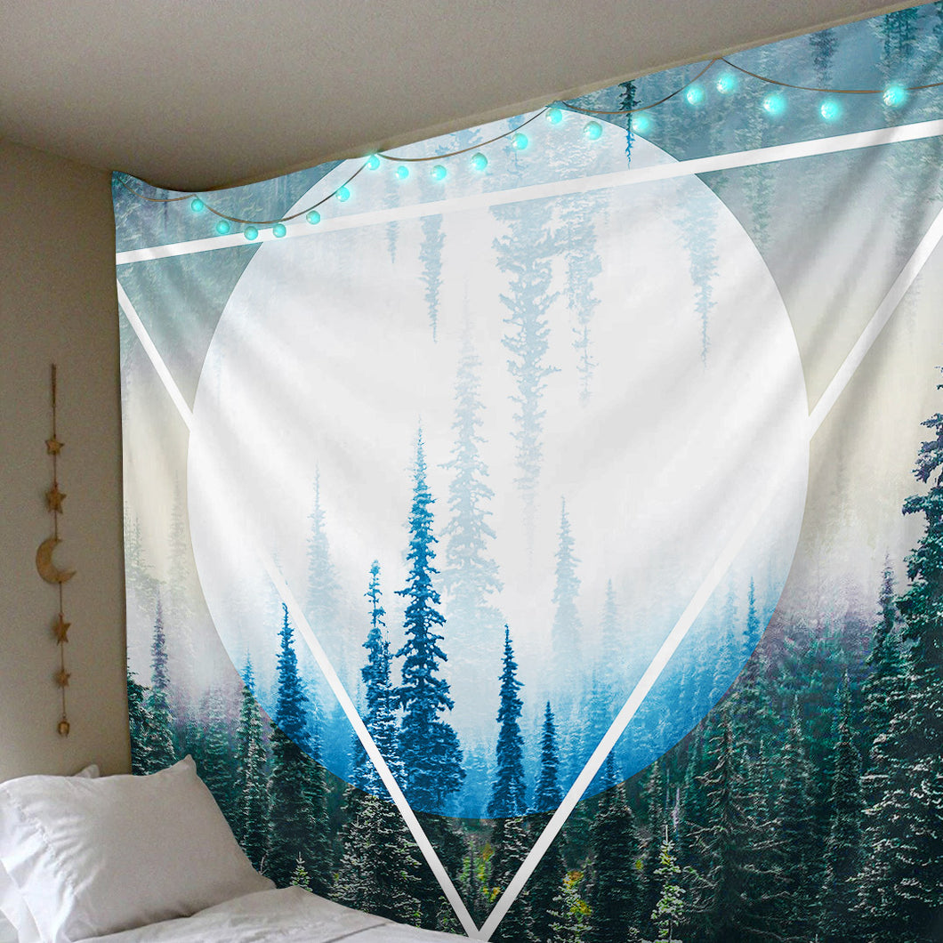 Luminous Forest Tapestry