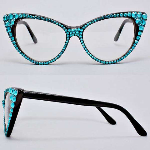 Crystal Cat Eye Glasses