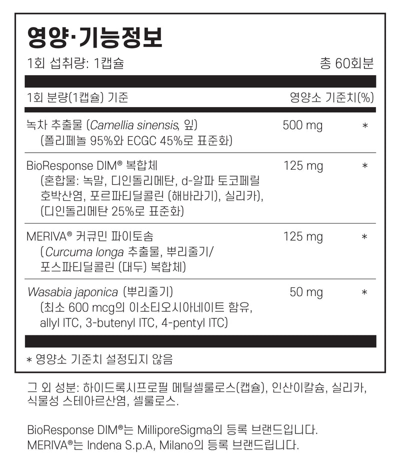 필로소피 DIM 플러스 60캡슐 - Philosophy Nutrition DIM Plus 60 cap